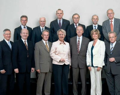 2007: Prof. Dr. Wolfgang Wahlster and other members of the Research Alliance