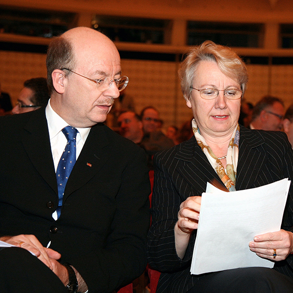 2006: Treffen mit der Bundesministerin für Bildung und Forschung Annette Schavan mit Prof. Dr. Wolfgang Wahlster