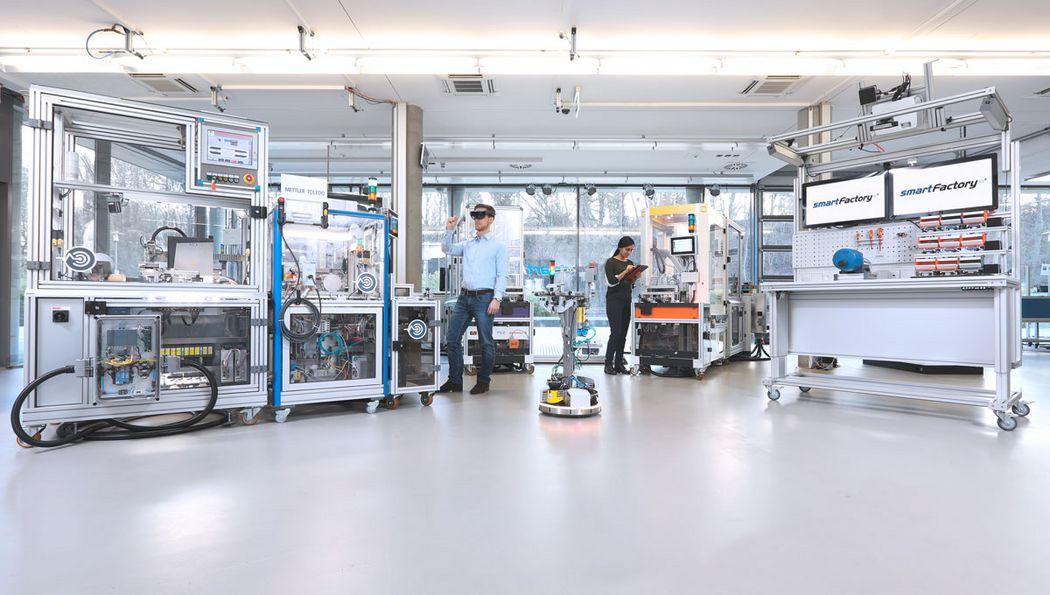 Die Produktionsanlage in ihrem Aufbau 2019