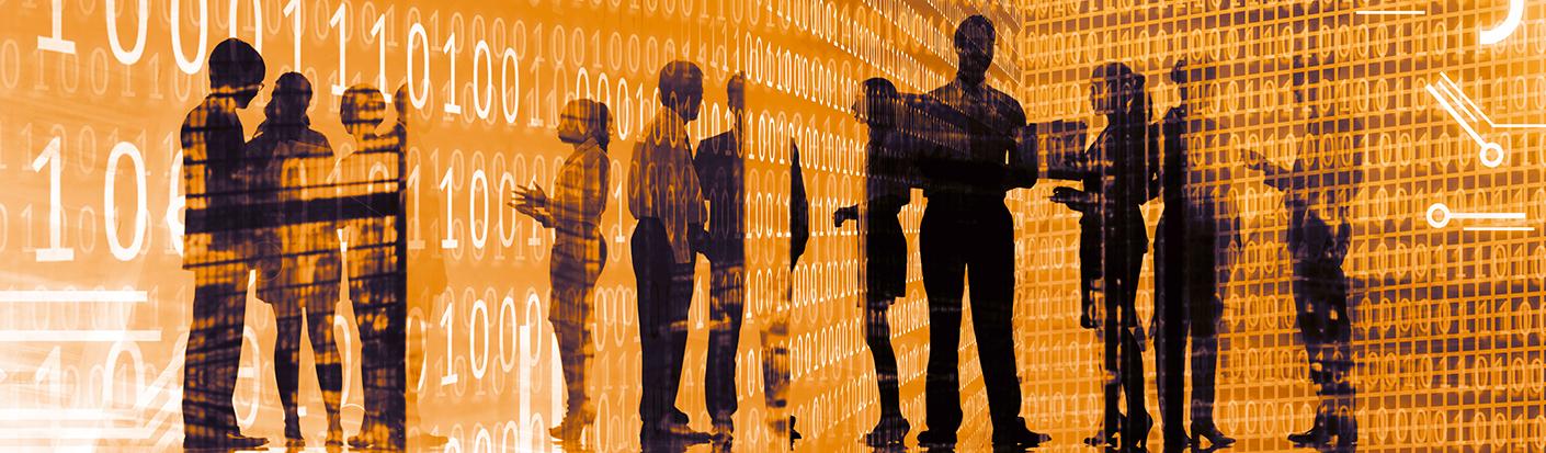 Visualisierung Personengruppe und Binärsystem