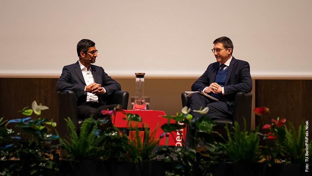 Google CEO Sundar Pichai visits Technical University Berlin