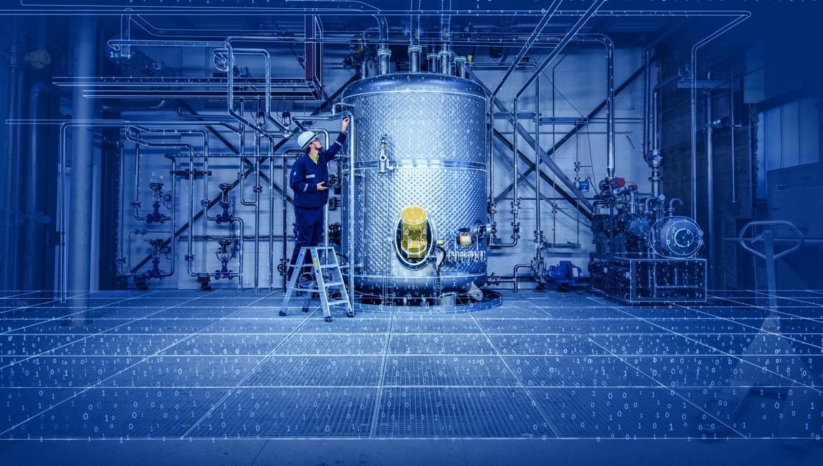 Visualisierung einer digitalisierten Industrieanlage