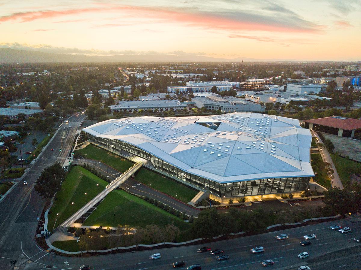 NVIDIA Headquarter in Santa Clara / Kalifornien (Vogelperspektive).