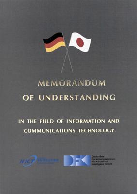 Deckblatt des Memorandum of Understanding (AIST-DFKI)