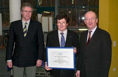 Dr. Walter Olthoff,Prof. Dr. Bernd Neumann, Prof. Dr. Wolfgang Wahlster, Universität Hamburg, 3. April 2006