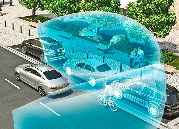 Visualisierung einer Objekterkennung in einer Straßenszene