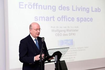 Prof. Wahlster während seiner Ansprache