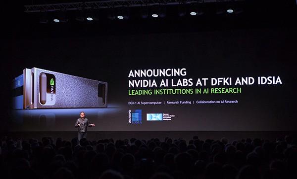 Jen-Hsun Huang bei seiner Keynote auf der GPU Technology Conference in Amsterdam