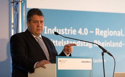 Sigmar Gabriel bei seiner Keynote