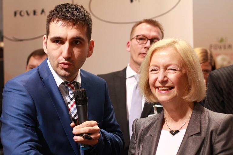 Markus Weber, Volker Schilling und Ministerin Wanka