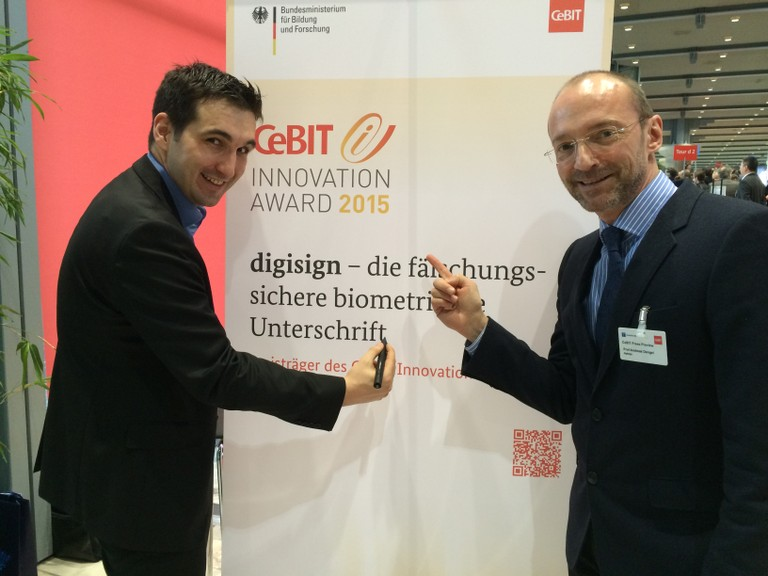 Markus Weber (links) und Prof. Andreas Dengel