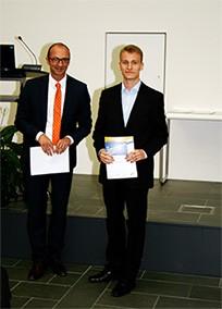 Prof. Dengel und Felix Rech