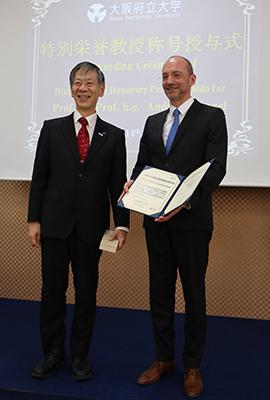 OPU-Präsident Prof. Hiroshi Tsuji und Prof. Andreas Dengel