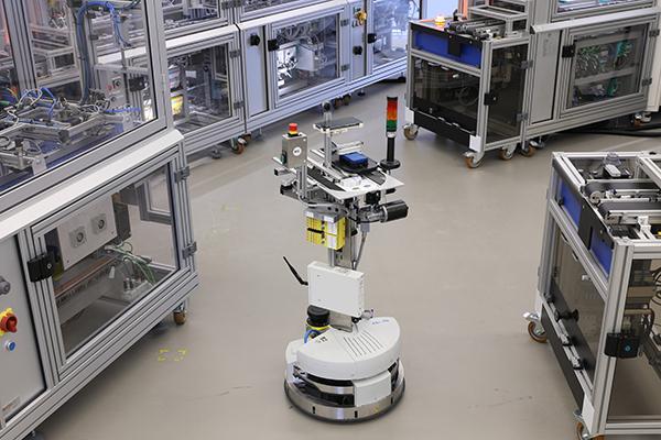 Der Robotino im Einsatz in der SmartFactory-KL