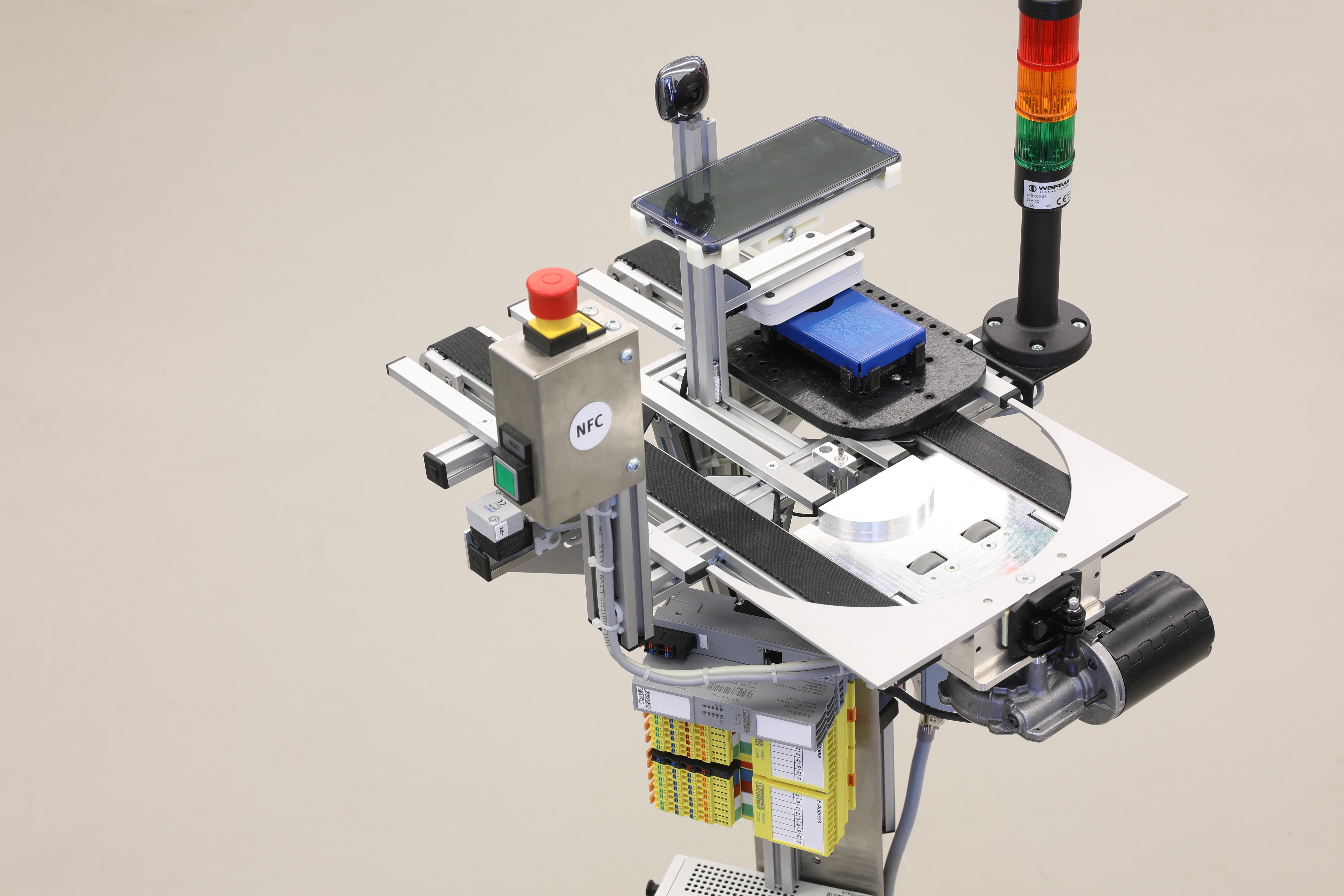 Detailansicht des Robotino der SmartFactory-KL