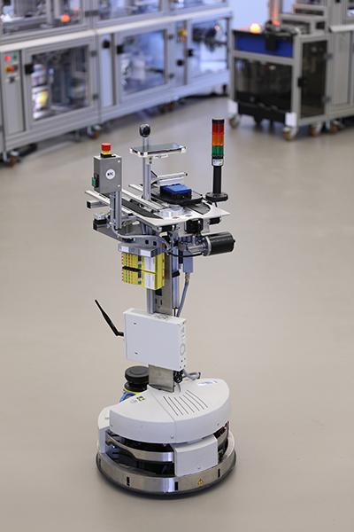 Komplettansicht des Robotino