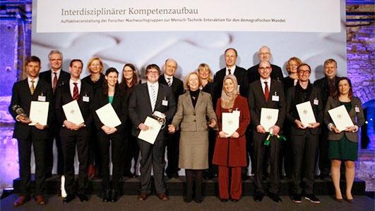 "Die Forschungsgruppen im Wettbewerb ""Interdisziplinärer Kompetenzaufbau"""